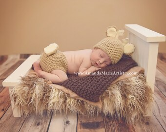 Baby Blanket - Newborn Photo Prop - Brown
