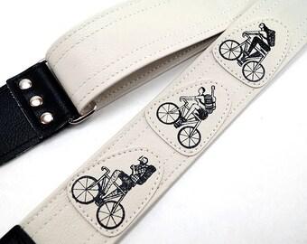 Bicycle Crew Guitar Strap, Bike Guitar Strap By Dave Van Patten