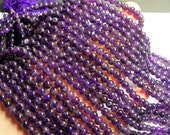 Amethyst - 6mm round - A quality- 1 full strand - 67 beads - RFG93