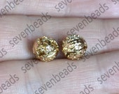 2 pcs 24K Gold filled Brass Hollow Filigree Ball Spacer beads Jewelry Findings, brass spacers findings beads,Gold filled Spacers