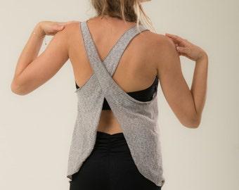Yoga top - loose lycra top - cotton Yoga shirt - burning man - women clothing