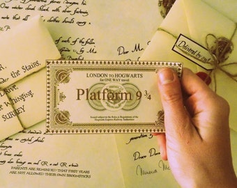 Deluxe Hogwarts Acceptance Letter with Hogwarts Express Ticket