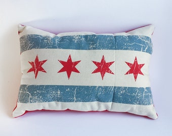 Chicago Flag Pillow