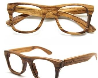 ON SALE WALKER2011 customize handmade zebra wood   wooden prescription sunglasses