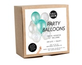 NEW! Mermaid Party Balloons / Includes 3 Iridescent Confetti Balloons / 12 count