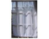 3 x 'Natural Grey' Flax 100% Linen Door Panels for Stacey