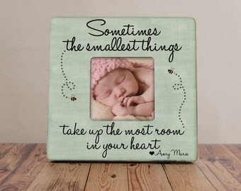 Sometimes The Smallest Things Take Up The Most Room In Your Heart Picture Frame, Cottage Chic Picture Frame, Winnie The Pooh Picture Frame