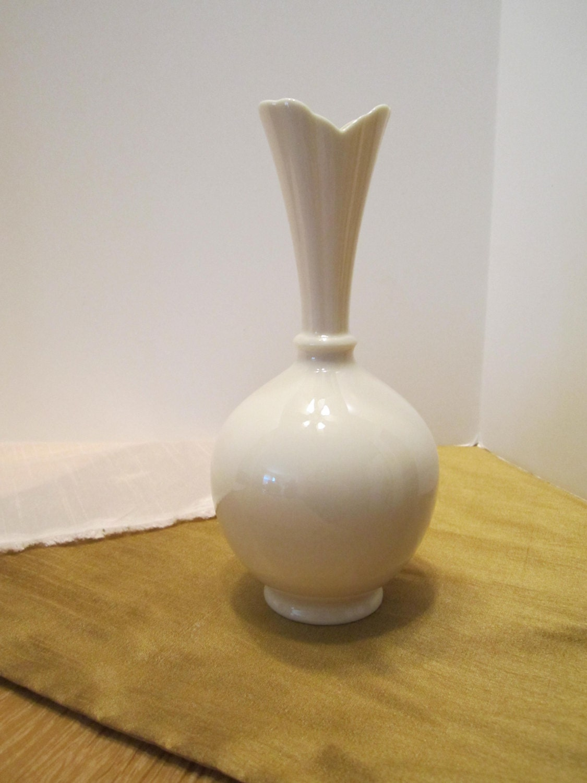 Art Deco Lenox Ivory Bud Vase Creamy White Vase Bulbous