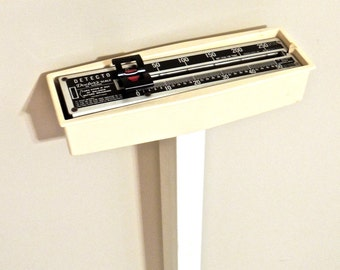 vintage doctor's scale - 1960s Detecto mid century stand-up scale