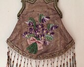 Vintage Victorian Embellished Bag. Wonderful Beadwork.