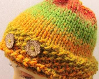 Cute Acorn Buttoned Hat