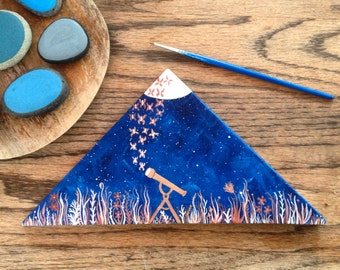 Made to Order Painting, Original Painting on wood, moonlight migration