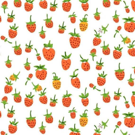 Heather Ross Briar Rose berries red orange FQ or more OOP HTF