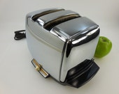 Vtg Chrome Electric Toaster - Not Working Properly - Parts Repair Adjust - Sunbeam Model AT-W