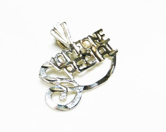 Sterling Silver Someone Special Charm Pendant - Vintage Charm for Bracelet