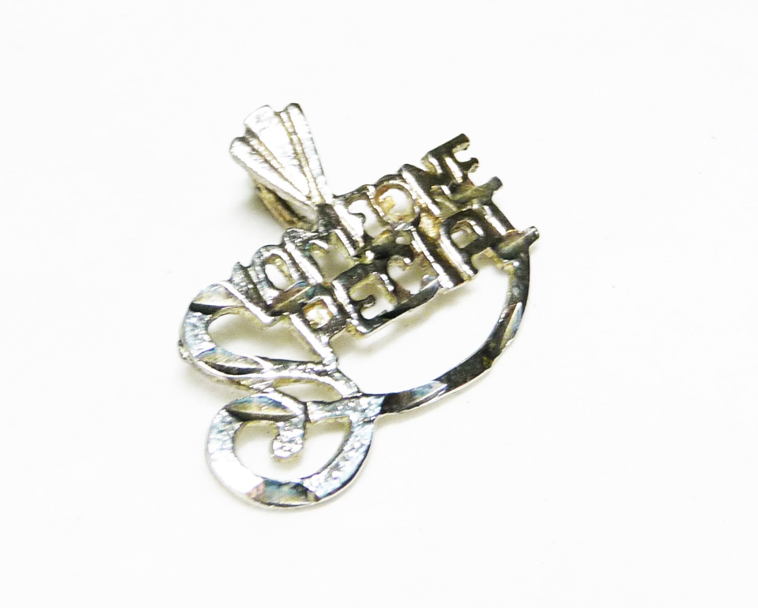 sterling silver someone special charm pendant vintage charm
