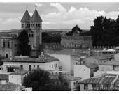 Fine Art Black & White Photography of View Over Toledo Spain