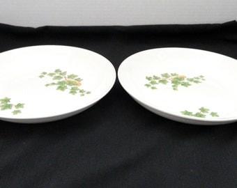 Preview by Paden City Ivy Pattern Two Soup Salad Bowls Bone Ash Glaze F-56