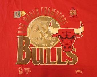 Official 1993 Chicago Bulls Championship T-shirt. Never worn, Michael Jordan era
