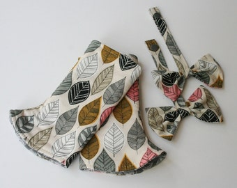 Reversible Curved Baby Carrier Suck/Drool Pads and Reach Straps w/ Bows - Foliage (Fits Tulas and other SSCs) - Ready to Ship!