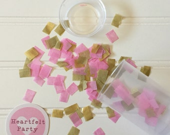 Pink and Gold Party Decor - Pink and Gold Confetti Popper - Pink and Gold Decor - Confetti Popper - Birthday Confetti - Heartfelt Party
