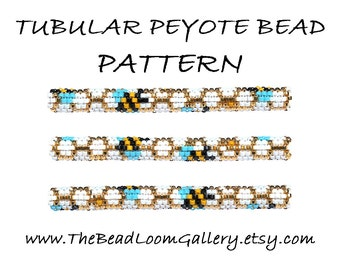 Tubular Peyote Bead PATTERN - Vol. 13 - Honey Bee - PDF File PATTERN