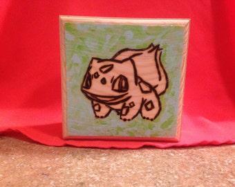 Bulbasaur! Bulbasaur Inspired Wood Burned Jewelry Box