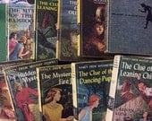 NANCY DREW Books Vintage Carolyn Keene CHOICE girls mystery yellow or blue cover books, Dana Girls Mystery books combined ship good vintage