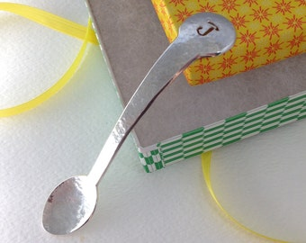 Silver spoon personalized baby gift, handmade in solid sterling silver