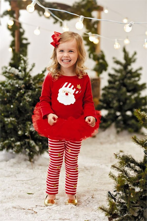 Christmas Holiday Santa Tutu Skirt Set by Mudpie