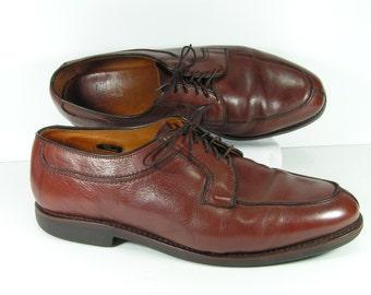 allen edmonds stockbridge shoes mens 11.5 D brown chestnut leather