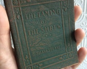 The Taming of the Shrew by William Shakespeare  - Miniature Book Little Leather Library 1920s Antique Vintage