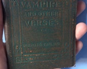 THE VAMPIRE and other Verses by Rudyard Kipling - Miniature Book Little Leather Library 1920s Antique Vintage