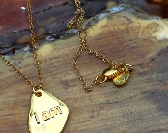 Gold, miron plated, iam 3d printed necklace