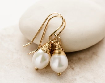 AA Grade Freshwater Pearl Earrings