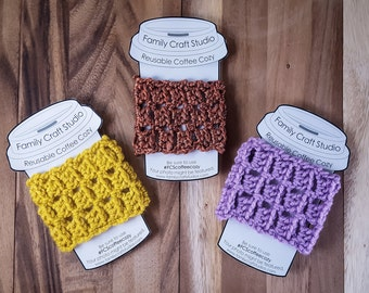 Made-to-Order 3-Set Scales Coffee Cozies