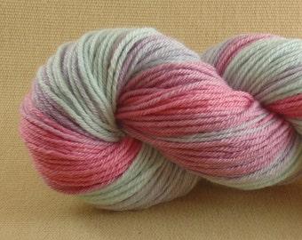 Hand Dyed Yarn - Pop Tart Light - Worsted Weight Yarn - 100% Non Superwash Merino Wool Yarn - Color Block Yarn
