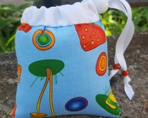 Pendant/Small, Mushroom, White, Cute Bag, Print, Pipe Bags, Pipe Bag, Glass Pipe Protection, Pretty Pouches, Glass Pipe Bag, Pipe Cozy, #3