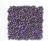 Iris Purple 2mm Czech Fire Polished Beads x 100
