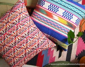 Mexican Pillows Set of 2 - Colourful Boho Cushion Covers Twin Set