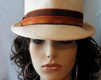 Hand made Fedora hat - Natural straw