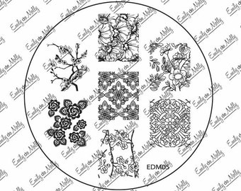 Nail stamping plate - EDM05