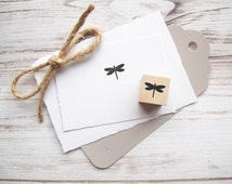 Mini Dragonfly Rubber Stamp 3/4 inch