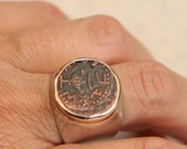 Roman Coin Ring, Sterling Silver Ring, Handmade Ring ,Antique Coin Ring, Vintage Ring,Solitaire Ring,Antique  Coin Replica
