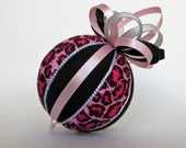 Pink Leopard Print Christmas Ornament