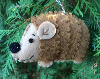Sweet Spike the Hedgehog Felt Ornament
