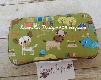 Puppy Travel Baby Wipe Case, Dog Personalized Diaper Wipes Case, Monogram Wipecase, Wipe Holder, Diaper Bag Wipe Clutch, Baby Shower Gift