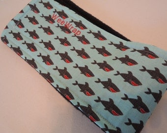 Sharks Dog Belly Band, Stop Marking with my WeeWrap, Personalized