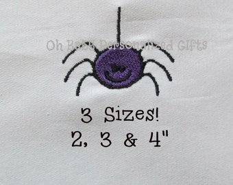 Buy 1 Get 1 Free!  Spider Embroidery Design Halloween Embroidery Design Mini Spider Embroidery Design Small Spider Embroidery Pattern 2,3&4""