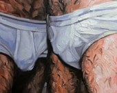 Bears in Underwear, oil on canvas panel 11x14 inches Kenney Mencher